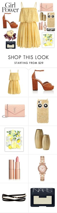 She hits like ecstasy . by inna-atelj on Polyvore featuring moda, Chicwish, Tabitha Simmons, Yves Saint Laurent, Michael Kors, Kenneth Jay Lane, Kate Spade, NARS Cosmetics and MyPowerLook