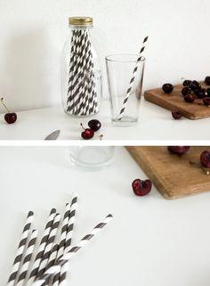 Stripe Pattern Party Paper Straw