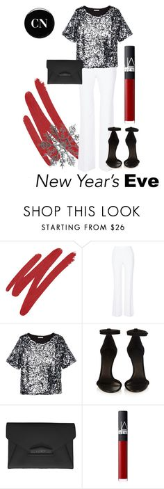 """New Year's Eve party"" by cielonewton on Polyvore featuring NARS Cosmetics, Diane Von Furstenberg, H&M, Isabel Marant, Givenchy and Deborah Lippmann"