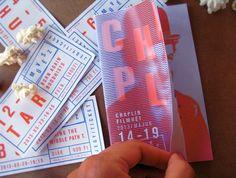 Chaplin Film Festival Brochure by Adrienn Nagy, via Behance