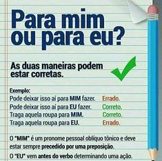 Para mim / Para eu - aprenda como fazer um TCC passo a passo: www.comoelaborarumtcc.net