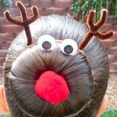 Reindeer Sock Bun Hairstyle Tutorial - I should do my hair like this tomorrow haha