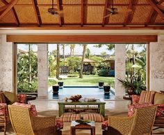 Bali style home on Hawaii.The Allure of the Islands : Architectural Digest
