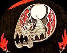 Skull Illusion - multi textured translucent soft enamel pin
