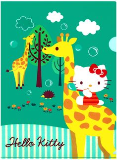 Sanrio Hello Kitty Giraffe Plastic File Folder