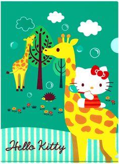 Sanrio Hello Kitty Giraffe Plastic File Folder