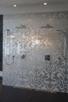Silver Mosaic Shower- OMG