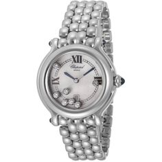 Chopard Women's Happy Sport Diamond White Mother Of Pearl Stainless Steel ($5,999) found on Polyvore