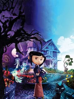 Coraline is a fairy tale / fantasy story written by Neil Gaiman. It tells the story of Coraline getting caught in a dream-like alternate universe. Neil Gaiman, Coraline Movie, Coraline Jones, Coraline Book, Internet Movies, Movies Online, Love Movie, Disney Films, Movie Posters