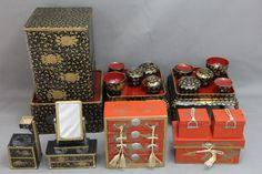 "Japanese Antique girl's day ""HINAMATSURI"" miniature furniture set"