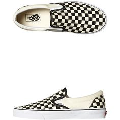 Vans Womens Classic Slip On Shoe Black ( 80) ❤ liked on Polyvore featuring  shoes c636da493
