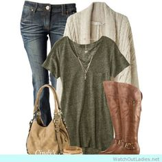 Earth tones and jeans you should try this fall! Pretty and classy it is! <3 Have a look!