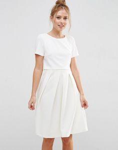 460bc1d25d84 ASOS Full Double Layer Midi Dress With Rib Skirt at asos.com. Ballkleid ·  Hochzeitskleid · Maxi Kleider ...
