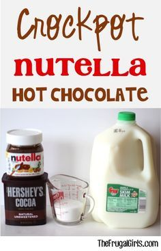 Crockpot Nutella Hot Chocolate Recipe! ~ from TheFrugalGirls.com ~ this Slow Cooker Hot Cocoa recipe is DELICIOUS... and so fun at Parties and Holidays! #slowcooker #recipes #thefrugalgirls