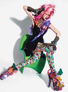 Rave New World - Photographed by Mario Sorrenti, styled by Panos Yiapanis; W Magazine March 2013.