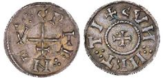 Viking Kingdom of York, 'Cnut', Penny, 1.36g., patriarchal cross, rev. +CVNNETTI around small cross (N.501; S.993), almost extremely fine, superb Cuerdale hoard toning
