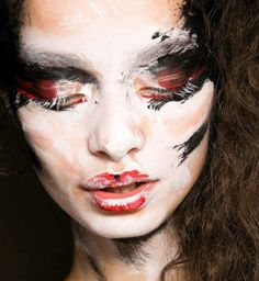Painted Face  |  High Fashion Ideas  | Model Pose