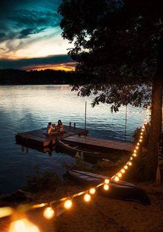 Peaceful outdoor lighting