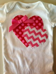 Valentines Day Heart Onesie by HighAltitudeCrafting on Etsy, $18.00