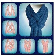 Neat way to tie a scarf