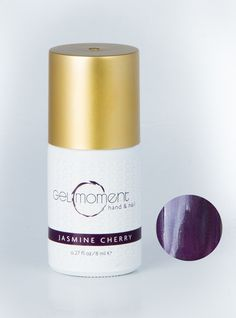 Jasmine Cherry | GelMoment.com DIY at home ONE minute gel nails! https://juliefritz.gelmoment.com/ YES! They dry in ONE minute, ONE coat! Crazy good stuff, ladies!