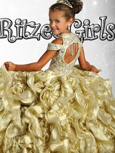 Gold Pageant Dresses 10
