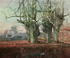 """Fred Cuming ~ """"March Trees"""", 1991 ~ Oil"""