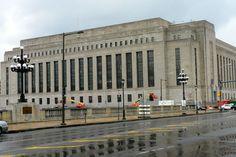United States Post Office-Main Branch in West Philadelphia, Pennsylvania.