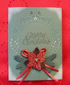 Easy Sizzix Christmas Card using Textured Impressions
