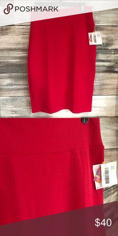 NWT LuLaRoe Red Cassie Pencil Skirt NWT LuLaRoe Solid Red Cassie Pencil Skirt. Soft,stretchy and textured fabric. LuLaRoe Skirts Pencil