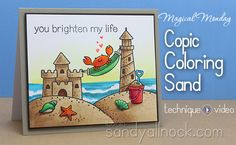 Lawn Fawn Life Is Good card by Sandy Allnock - Copic Coloring Sand