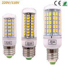 Bombillas 옥수수 전구 E27 SMD 5730 lamparas LED 빛 24 36 48 56 69 72 96 Leds Lampada 램프 E27 220 볼트/110 볼트 앰플 촛불 루즈