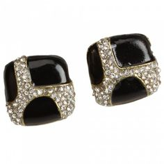 Popular Square Rhinestone Stud Earrings | favwish - Jewelry on ArtFire