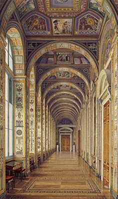 The Raphael Loggias, Hermitage, Konstantin Andreyevich Ukhtomsky, 1860