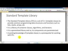 Standard Template Library in C++ Language Object Oriented Programming, Structure And Function, Data Structures, Language, Templates, Stencils, Languages, Vorlage, Models