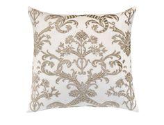 Mackie European Pillow White Linen / Fawn Velvet (28 x 28) L233ALWF-V