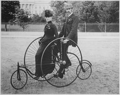 File:Smartly dressed couple seated on an 1886-model bicycle for two - NARA - 519711.tif