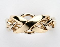 Sterling Silver Gold or Platinum Ladies Four by ArcanumDesigns