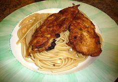 Yummy chicken and pasta...