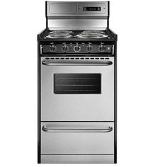 Tem130bkwy Summit Professional Stainless Steel Electric Range
