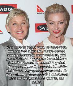 Ellen DeGeneres & Portia de Rossi | 14 Celebrities Who Don't Necessarily Want Kids