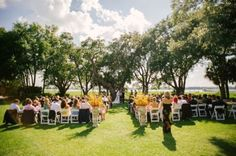 Sweetgrass Social wedding at Lowndes Grove in Charleston, SC. Courtney & Scott. Ceremony on the front lawn