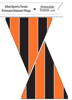 SF Giants Colors Mini Pennant Banner Flags from PrintableTreats.com