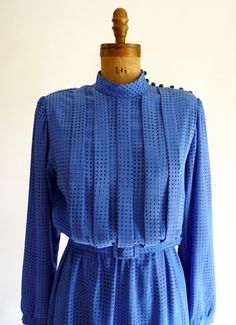 pintuck dress  80s secretary dress by QuinceVintage on Etsy, $37.00