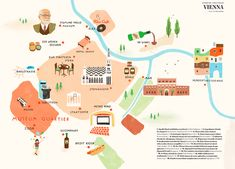 Illustrated map for Ling Magazine