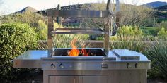 stainless steel Argentinian grill