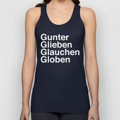 Def Leppard - Rock of Ages - Gunter Glieben Glauchen Globen Unisex Tank Top by AudioVisuals - $22.00