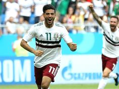 A penalty from Carlos Vela and Chicharito's goal saw El Tri past South Korea on Saturday and they are on the brink of making the last 16 once again World Cup News, World Cup Final, Soccer World Cup 2018, Mexico World Cup, World Sports News, Match Of The Day, Mexico Soccer, Double Header, Soccer Players