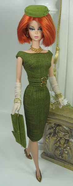 For St. Patrick's Day at the office, Barbie always makes the extra effort to show the green side of her wardrobe. #barbie #stpatricksday
