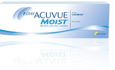 Learn about ACUVUE® MOIST daily contact lenses and find a certificate for a free trial pair (exam and fitting fee not included).